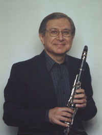 Phil Baldino with clarinet
