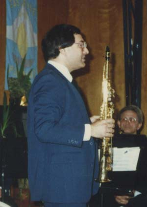 Phil Baldino playing clarinet